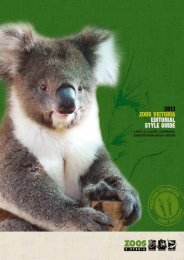 Zoos Victoria Editorial Style Guide