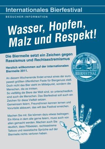 Besucher-Infoflyer Biermeile August 2011 - Register Friedrichshain