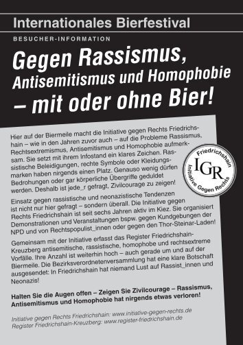 Besucher-Infoflyer der IGR - Register Friedrichshain
