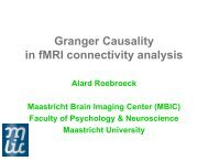 Granger Causality in fMRI connectivity analysis - ClopiNet
