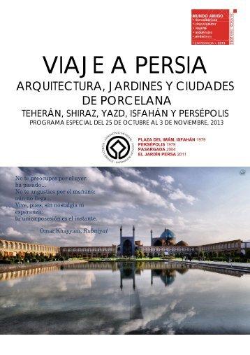 VIAJE A PERSIA - Viajes Mundo Amigo
