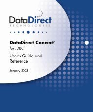 DataDirect Connect for JDBC User's Guide and ... - Stylus Studio