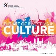 The Art of Investing in Culture - Conseil des arts de Montréal