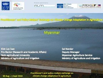 Myanmar - Regional Climate Change Adaptation Knowledge ...
