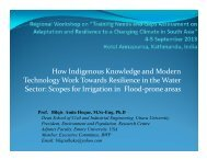 Scopes for Irrigation in Flood‐prone areas - Asia Pacific Adaptation ...