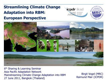 Streamlining Climate Change Adaptation into RBM - Asia Pacific ...