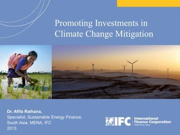 Promoting Investments in Climate Change Mitigation - Asia Pacific ...