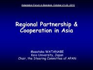 Regional Partnership & Cooperation in Asia - Asia Pacific ...