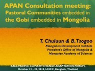 APAN Consultation meeting - Asia Pacific Adaptation Network