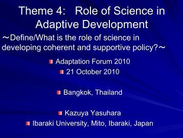 Theme 2 - Asia Pacific Adaptation Network