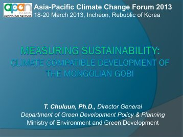 Asia-Pacific Climate Change Forum 2013 - Asia Pacific Adaptation ...