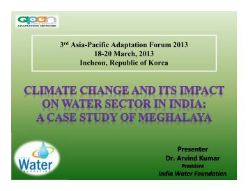 3rd Asia-Pacific Adaptation Forum 2013 18-20 March, 2013 Incheon ...