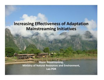 Increasing Effectiveness of Adaptation Mainstreaming Initiatives ...