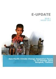 E-Update: Issue 1, August 2010 - Asia Pacific Adaptation Network