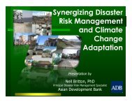 Synergizing Disaster Risk Management and Climate Change Adaptation ...