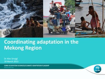 Coordinating adaptation in the Mekong Region - Asia Pacific ...