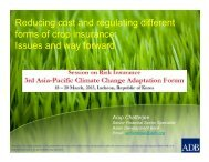 Reducing cost and regulating different forms of crop insurance ...
