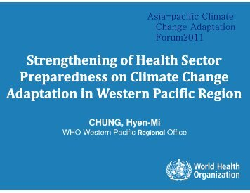 Strengthening of Health Sector Preparedness on Climate Change ...