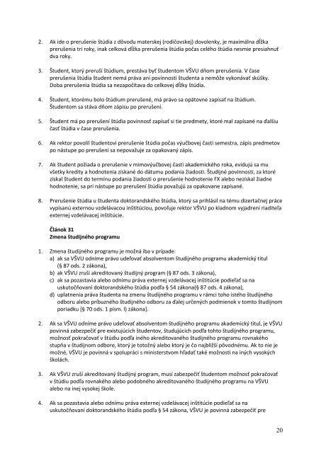 Študijný poriadok VŠVU - Vysoká škola výtvarných umení