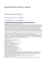 Monitoring médií   VŠVU   04.05.2013 - Vysoká škola výtvarných ...