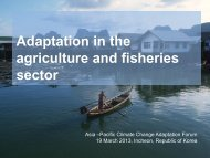 Adaptation in the agriculture and fisheries sector - Asia Pacific ...