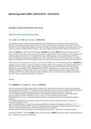 Monitoring médií   VŠVU   09.03.2013 - Vysoká škola výtvarných ...