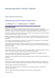 Monitoring médií 17. – 23. 8. 2013 - Vysoká škola výtvarných umení ...