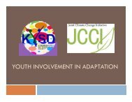 YOUTH INVOLVEMENT IN ADAPTATION - Asia Pacific Adaptation Network