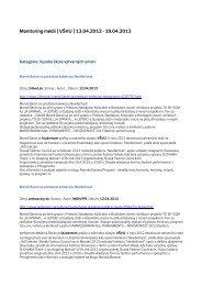 Monitoring médií 13. – 19. 4. 2013 - Vysoká škola výtvarných umení