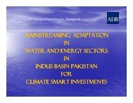 MAINSTREAMING ADAPTATION IN WATER AND ENERGY SECTORS IN INDUS ...