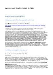 Monitoring médií   VŠVU   06.07.2013 - Vysoká škola výtvarných ...