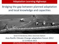 Adaptation Learning Highways - Asia Pacific Adaptation Network