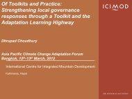 Adaptive mechanisms - Asia Pacific Adaptation Network