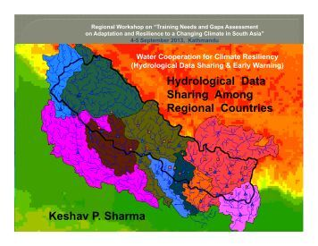 Hydrological Data Sharing Among Regional Countries - Asia Pacific ...