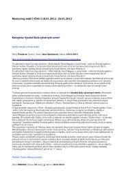 Monitoring médií 19. – 25. 1. 2013 - Vysoká škola výtvarných umení