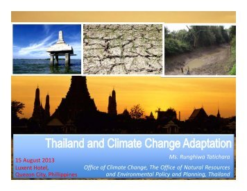 Thailand and Climate Change Adaptation - Asia Pacific Adaptation ...