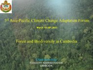 3rd Asia-Pacific Climate Change Adaptation Forum Forest and ...