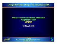 Panel on Community Based Adaptation Adaptation Forum Bangkok 12 ...