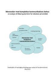 Mennesker med komplekse kommunikations behov | 2013