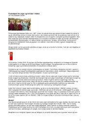 Forholdene for piger og kvinder i Indien - Dansk - Indisk Børnehjælp