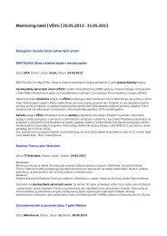Monitoring médií 25. – 31. 5. 2013 - Vysoká škola výtvarných umení ...