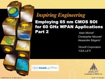 Employing 65nm CMOS SOI for 60GHz WPAN Applications, Pt. 2