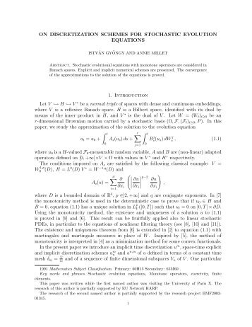 ON DISCRETIZATION SCHEMES FOR STOCHASTIC EVOLUTION ...
