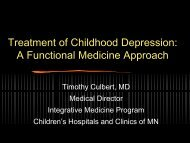 Treatment Of Childhood Depression - Institute for Functional Medicine