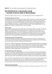 resultat af dansk støtte til Mozambique - Energiforum Danmark