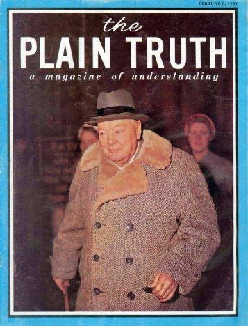 "Plain Truth 1965 (Prelim No 02) Feb - And He said to them, ""Go into ..."
