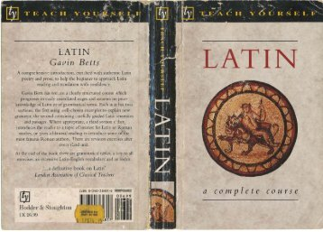 Latin A Complete Course - Essan.org