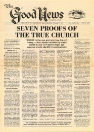 SEVEN PROOFS OF THE TRUE CHURCH - Lcgmn.com