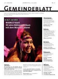 GBG2015 Woche 27 - Marktgemeinde Götzis