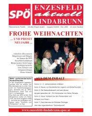 FROHE WEIHNACHTEN - SPÖ Enzesfeld-Lindabrunn